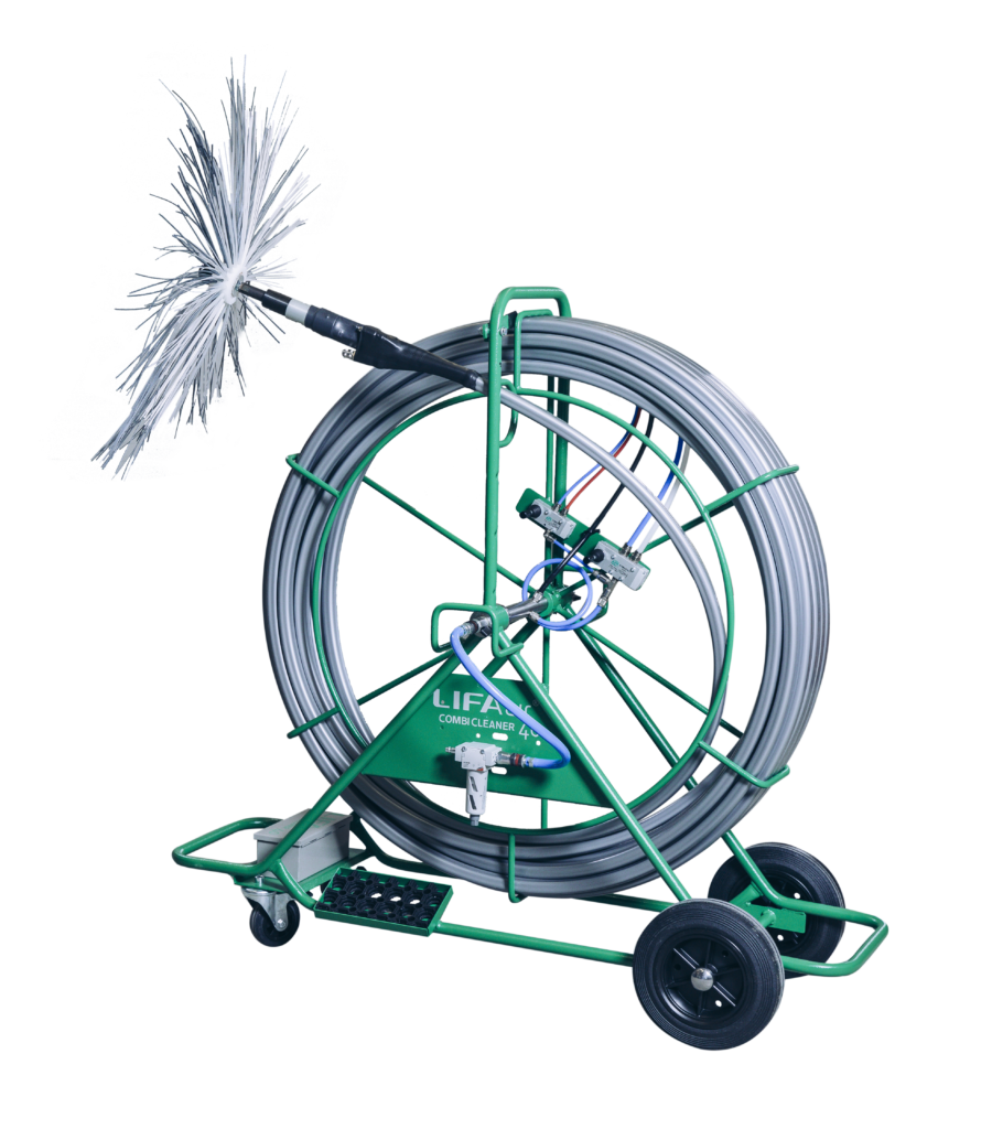 Combi Cleaner 40 Pneumatic Rotary Brush Machine Hasman Ltd